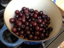 Grapes that are a little soft for eating, but perfect for jam!